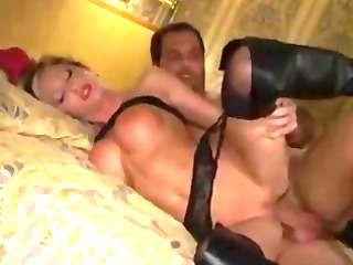 fresh milf into leather galoshes anal drilling