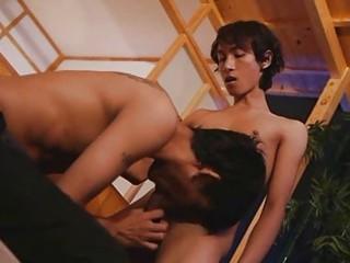 slim asian men bombastic blowjob period