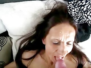 cumming into mouth of whore granny. amateur