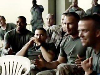 cuckold soldier watches his maiden pierced on tv