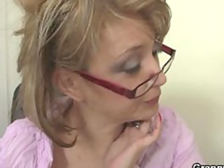older  office boss forces him fuck her difficult
