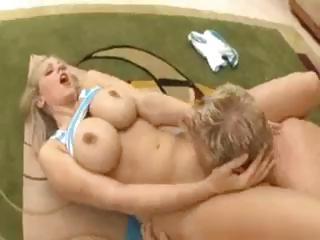 desperate albino lady jane anna licks on a huge