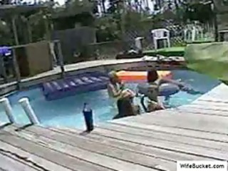 swinger orgy inside the pool