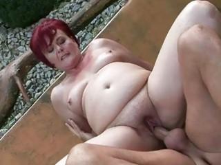 heavy grandma teasing difficult porn