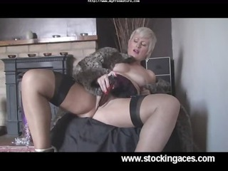 wonderful saucy sally woman into nylons older