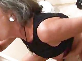 granny into the bath