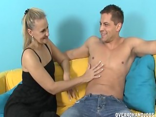 horny lady massages a libido