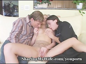 naughty triple with wife