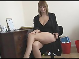 busty grownup pale secretary gets nude and spreads