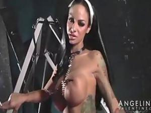 pornstarplatinum: angela valentine nun video