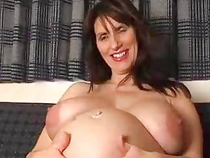 pregnant fresh woman spreads her gaping pussy