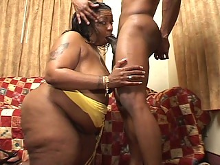 large awesome momma drives a dark penis