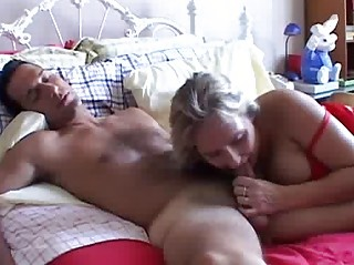 slutty cougar young gives a super  cock sucking