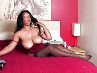 sexy brunette momma with giant bazongas inside