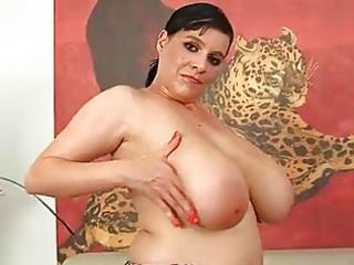 older  laurella masturbating with her large chest