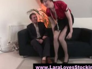 nylons older  angel into high shoes