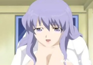 desperate anime woman dressed enjoy medic seduces