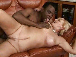 horny elderly drilling with her ebony boyfriend