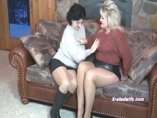 milfs inside sweaters fuck each different with