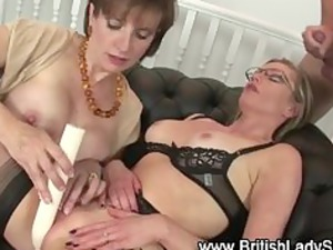 brit having on spex and pantyhose gets a facial