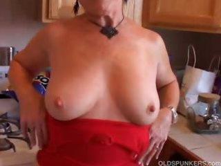 extremely wonderful grandma has a soaking juicy