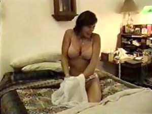 horny maiden poses and massages husbands shaft
