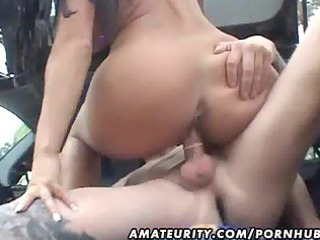 desperate fresh wife fucked into a car with