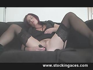 stocking milf kitty pleasing