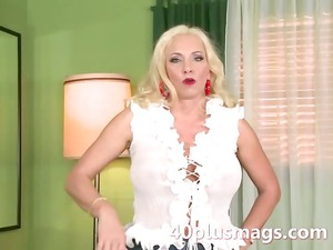 introducing a horny blonde mature
