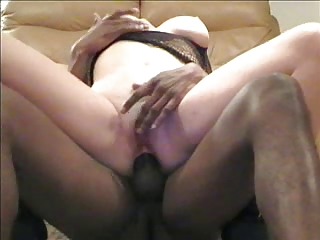 cuckold woman close up butt with dark pole