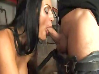 sexy brunette european lady munches on his libido