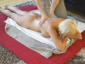 stepson tom massages jan