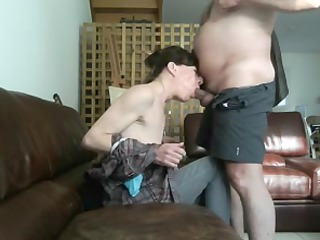 mature chick obtains gullet fucked