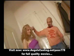 long hair blonde bride toying libido