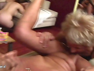 a special and kinky cougar bunch fuck celebration