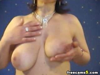 giant breast lady pushing dildo web parade