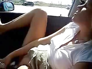 my super wife dildoing in car. inexperienced