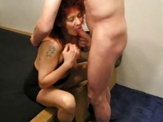 mature redhead fresh housewife licks and fucks