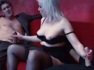 blond grownup bitch takes twofold penetration by