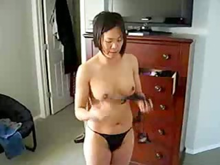 horny chinese lady shows titght figure