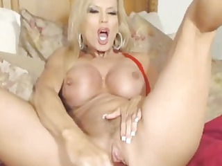 big boobs woman pounds her pussy with vibrator hd