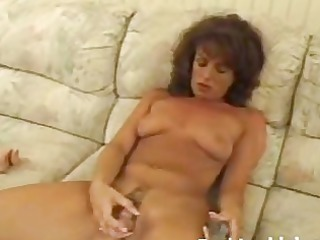 grown-up lady playing shaggy pussy