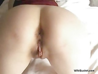 horny woman takes a giant cum