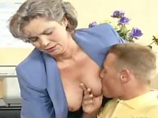 insane elderly milf obtains cock fucked and