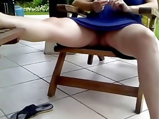 voyeur 19, a pregnant woman resting, no panties