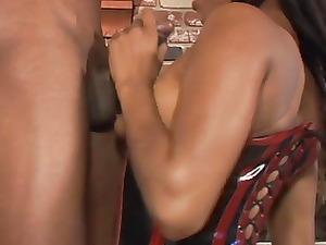 ebony sweetie in bikini banged uneasy