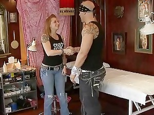lusty blonde lady gets fucked by horny tattooed
