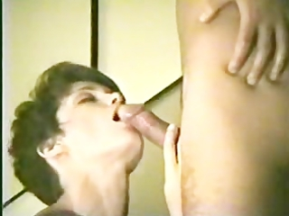 housewife gives a meticulous fellatio