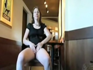 older  sweetie shows pussy into public