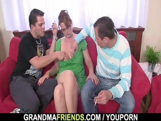 cougar gets her oral and arse banged